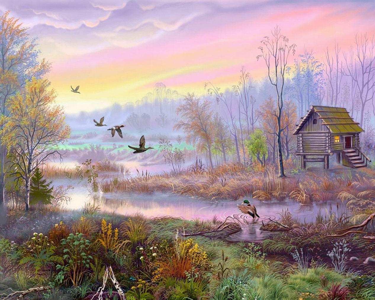 utv46bjv dans fond ecran paysage violet